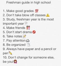 best high school tips ideas school study tips incoming freshman tips while in high school