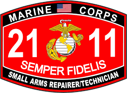 3 8 inch small arms repairer technician marine corps mos 2111 usmc military decal com
