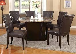 marble top dining table set espresso transitional brown marble top round dining table set dining set