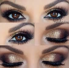 the best bridal makeup inspo on golden smoky eye wedding makeup for brown eyes