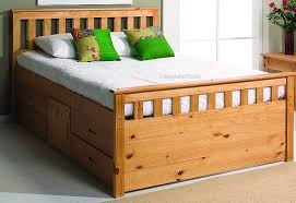 verona pine double captains bed