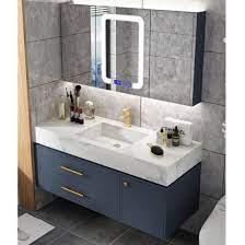 simple rock board bathroom cabinet