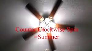 which direction should ceiling fan turn in summer which direction does ceiling fan turn in winter