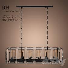 harlow crystal rectangular chandelier 42