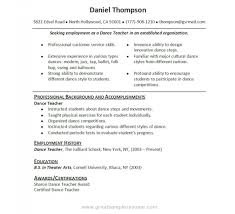dance instructor resume sample teaching template teacher format download  free templates