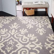amulet wool dhurrie grey rug