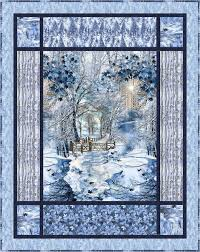 44 best images about Quilting pannels on Pinterest | White quilts ... & Scenic Snowfall-osie. Panel QuiltsFabric ... Adamdwight.com