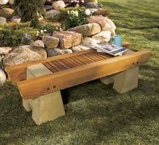 Small Picture Concrete and Wood Garden Bench Here are complete plans to build