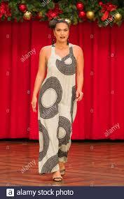 Hawaii Clothing Designers Female Model Wearing Apparel By Hawaiian Fashion Designer