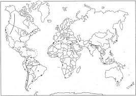 Wereldkaart Kleurplaat