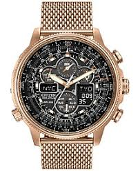 male male macy s citizen men s eco drive navihawk at rose gold tone ion plated stainless steel bracelet