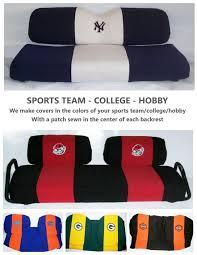 golf cart seat covers team colors ezgo club car yamaha cq sewing com sunbrella
