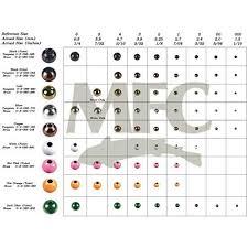 Bead Head To Hook Size Chart Tungsten Beads Amazon Com