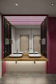 office bathroom design. A Modern Office Bathroom With Pink And Green Accents: Interior 3D Visualizations View01 Design D