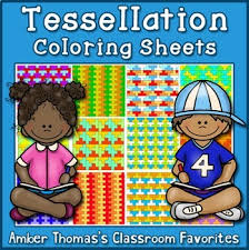 Printable applique letter & number templates: Tessellation Coloring Pages Worksheets Teaching Resources Tpt