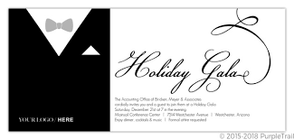 Black Formal Tux Business Holiday Party Invitation