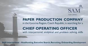 sam international recruitment onboarding development our client a paper production company in the vysocina region czech republic is searching for an experienced chief operating officer interpersonal
