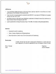 Awesome Declaration Format For Resume Images - Simple resume .