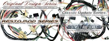 exact oem reproduction wiring harnesses and restomod wiring individual wiring harnesses complete wiring systems