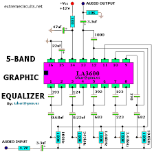 equalizer circuit diagram info 5 channel graphic equalizer by transistor circuit diagram car wiring circuit
