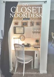 closet to office. With Love, Stephanie : DIY: Closet Nook Desk To Office