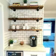 floating kitchen shelves fixer upper farmhouse shelves