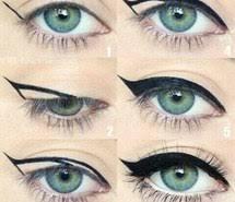 blue eye eyeliner eye makeup tutorial