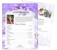 funeral flyer elegant and lovely funeral flyers templates floral amethyst one