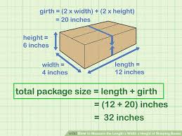 How To Measure The Length X Width X Height Of Shipping Boxes