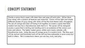How To Write A Concept Statement For Interior Design Www Napma Net Simple Concept Statement Interior Design