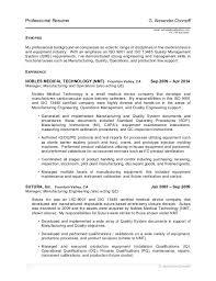 Medical Device Resume Charming Medical Device Resume Writing