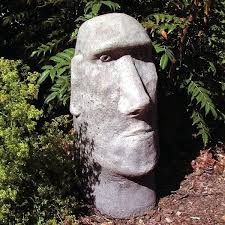 fine sculptures stone head on garden e diy statues beautiful and creative around the world