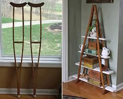 diy wood crutches shelf