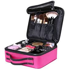 amazon travel makeup box luxspire cosmetic makeup case professional makeup train case portable cosmetic case makeup bag organizer with adjule