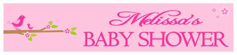 Baby Shower Banner Personalised Pink Baby Shower Banner Design 6