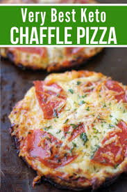 Gradually add the almond flour, whisking it in until the mixture is smooth. The Best Keto Pizza Chaffle Recipe Kasey Trenum