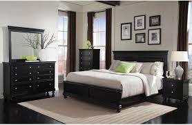 bridgeport piece queen bedroom set – black  bedrooms queen