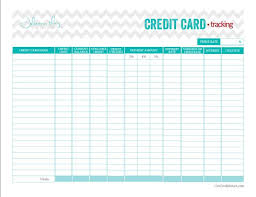 Credit Card Tracker Excel Credit Card Payoff Tracker Printable Debt Payoff