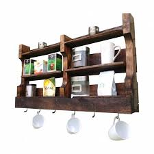 reclaimed wood coffee and tea wall shelf from del hutson designs