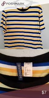 Divided By H M Striped T Shirt L Divided Striped T Shirt