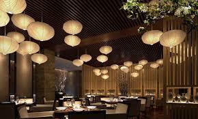 lighting for restaurant. asian restaurant interior design chinese setting elegant with white lampshade for best lighting idea in green
