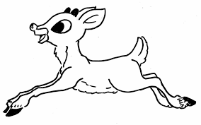 Small Picture Christmas Coloring Pictures Reindeer Cartoon Reindeer Christmas