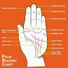 Palm Reading Chart Palm Reading Charts Palm Reading