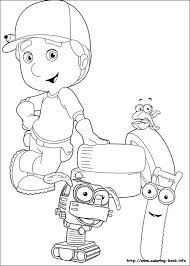 The home of the numberjacks. Handy Manny Coloring Picture