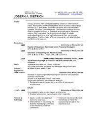 Standard Resume Template Microsoft Word Ms Resume Baskanidaico