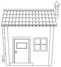 Eenvoudig Cartoon Huis Overzicht Download Gratis Vectorkunst En