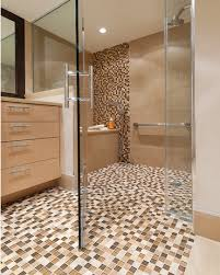 One of our favorite products is the walk in/roll in shower. These showers  are flush with the ground, meaning there is no barrier to enter.
