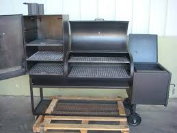 Bbq Smoker Design Plans Smokers And Grills Overall View Of The Bbq Smoker While It