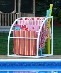 pvc pool towel rack easy diy pvc garment rack with pvc pool towel in towel valet