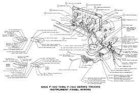 instrument panel wiring diagrams of 1964 ford f 100 f 750 series instrument panel wirings of 1964 ford f 100 f 750 series trucks
